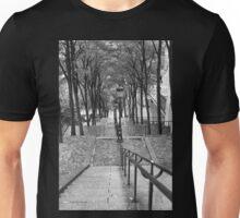 Escalier - Montmartre - Paris Black and White Unisex T-Shirt