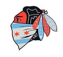 Chicago flag Photographic Print