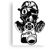 Urban Exploration Gas Mask Photography Canvas Print