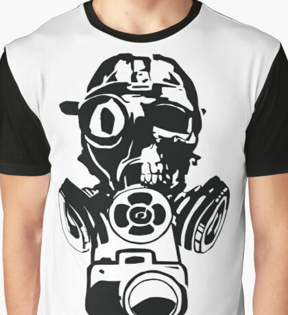 Urban Exploration Gas Mask Photography Graphic T-Shirt