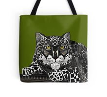 snow leopard green Tote Bag