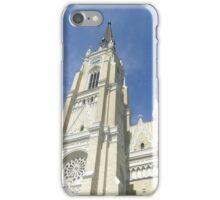 View of the bell tower of the cathedral in Novi Sad iPhone Case/Skin