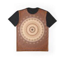 Mandala in brown and creamy tones Graphic T-Shirt