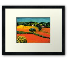 TUSCANY LANDSCAPE  WITH SUNFLOWERS Framed Print