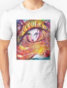 CARNIVAL MASK IN YELLOW / Venetian Masquerade T-Shirt