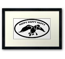 Happy happy happy Framed Print