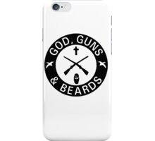 God Guns Beards iPhone Case/Skin
