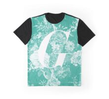'G' Letter, Vintage Literary Print Graphic T-Shirt