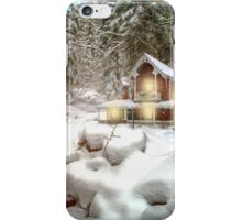 On a snowy Christmas Day iPhone Case/Skin