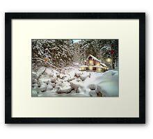 On a snowy Christmas Day Framed Print