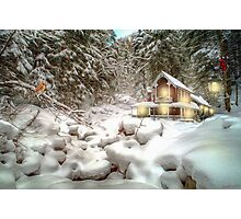 On a snowy Christmas Day Photographic Print