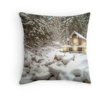 On a snowy Christmas Day Throw Pillow