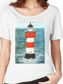 Nordsee Leuchtturm Roter Sand Women's Relaxed Fit T-Shirt