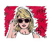 Taylor Swift 1989 Paint Photographic Print