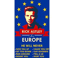Rick Astley for Europe Photographic Print