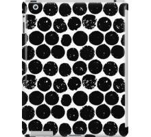 cork polka white black iPad Case/Skin