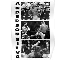 Anderson Silva - Leg Break Poster