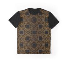 Golden ornament on black Graphic T-Shirt