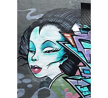 Graffiti lady Photographic Print