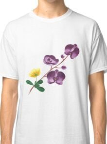Summer watercolor beautiful tropical flower Classic T-Shirt