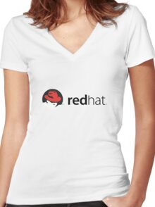 RedHat Linux Women's Fitted V-Neck T-Shirt
