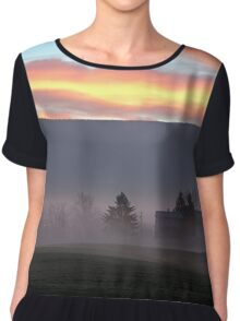Sunrise over the Blue Ridge Mountains Chiffon Top