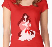 Wolf Children (Wall art and shirts) Women's Fitted Scoop T-Shirt