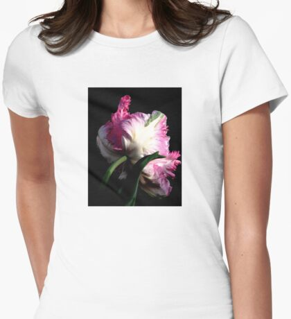 The Parrot Tulip An Artwork From Nature  Womens Fitted T-Shirt