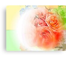 Flowers in the City  Canvas Print