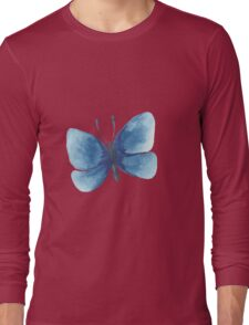 Summer watercolor beautiful tropical butterfly Long Sleeve T-Shirt