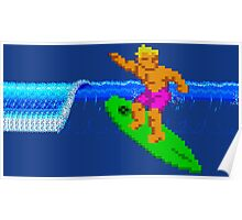 CALIFORNIA GAMES SURFING Poster