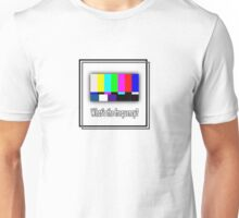 Dean's Funny TV Test Pattern Unisex T-Shirt
