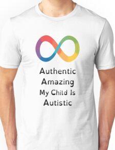 My Child is Amazing (Black Letters) Unisex T-Shirt
