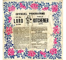 Official programme of the visit of Lord Kitchener to Sheffield, 1901 Photographic Print