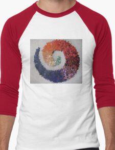 Rainbow Mosaic Swirl Men's Baseball ¾ T-Shirt