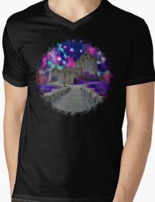 Space Castle Mens V-Neck T-Shirt