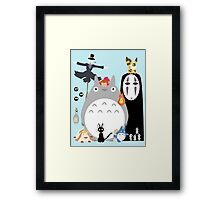 Ghibli movies Framed Print