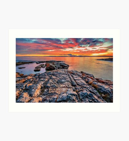 Coles Bay Sunset Art Print