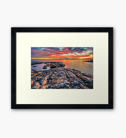 Coles Bay Sunset Framed Print