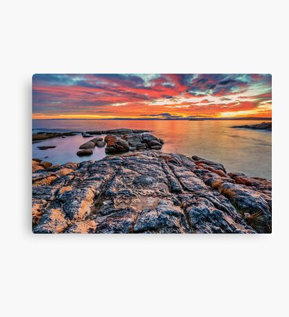 Coles Bay Sunset Canvas Print
