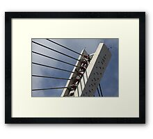 pylon cable-stayed bridge Framed Print