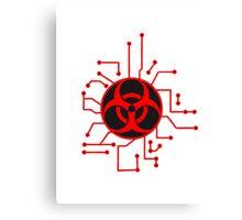 circuitry electrically symbol toxic virus bacteria zombie apocalypse biohazard sick electrician pandemic infected Canvas Print