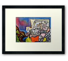 Conversation with an X Framed Print