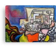 Conversation with an X Canvas Print