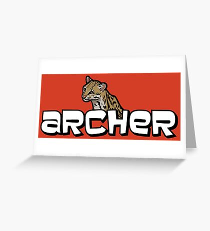 "Archer - Babou ""Fox eared asshole"" Greeting Card"