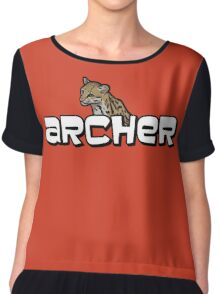 "Archer - Babou ""Fox eared asshole"" Chiffon Top"