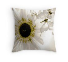 transparence flower in  grey Throw Pillow