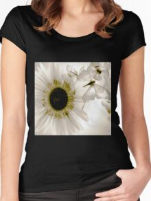transparence flower in  grey Women's Fitted Scoop T-Shirt