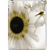 transparence flower in  grey iPad Case/Skin