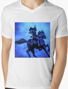 Samurai On Warhorse Mens V-Neck T-Shirt
